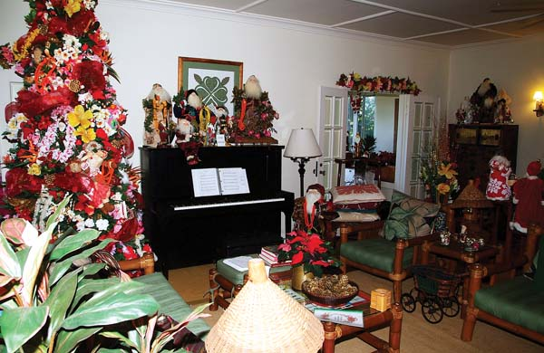 The living room of the historic inn on High Street in Wailuku will set a festive stage for the Lei of Aloha Eleven event on Saturday. The Old Wailuku Inn photo