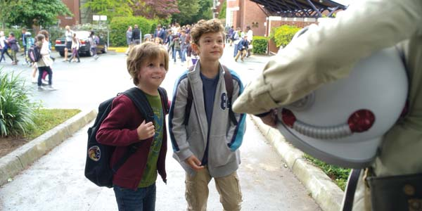 "Jacob Tremblay (left) and Noah Jupe star in ""Wonder."" Lionsgate photo via AP"