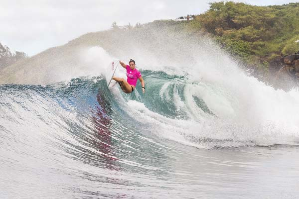 Tyler Wright, the defending world and Maui Women's Pro champion, competes in the first round Wednesday.