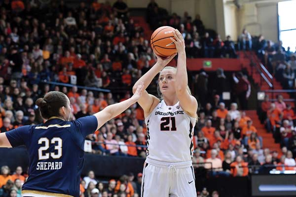Marie Gulich is averaging 15.2 points and 8.0 rebounds a game this season for the Beavers. OREGON STATE UNIVERSITY photo