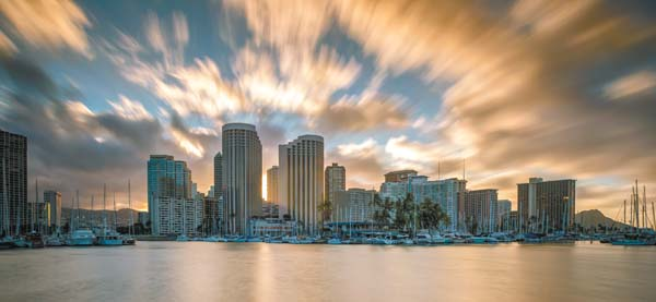 A spectacular sunrise is a common sight to behold from Prince Waikiki's two towers. -- Prince Waikiki photo
