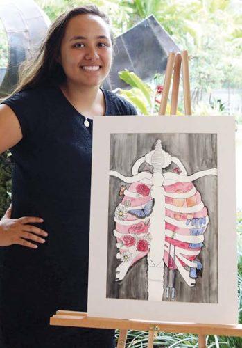 KALIA KAPISI, Art contest winner