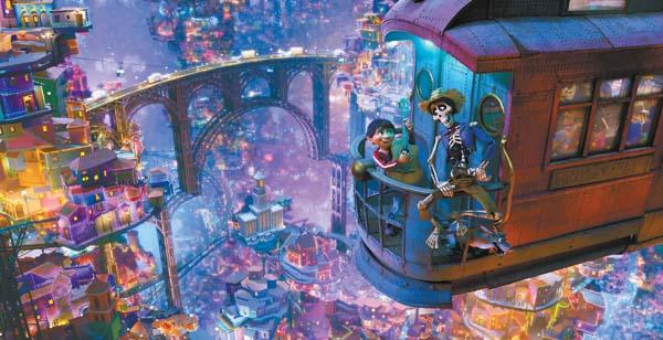 "Gael Garcia Bernal(right) and Anthony Gonzalez star in the animated hit film ""Coco."" Disney-Pixar photo via AP"