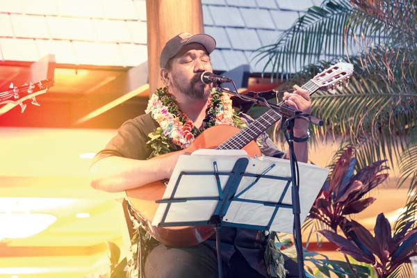Multi Na Hoku Hanohano Award-winner Kawika Kahiapo is the featured guest at George Kahumoku Jr.'s Slack Key Show at the Napili Kai Beach Resort. The Maui News file photos