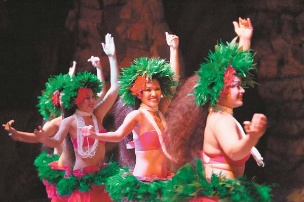 Drums of the Pacific Luau will add a special late-night show from 9 p.m. to midnight to ring in the new year at the Hyatt Regency Maui Resort & Spa in Kaanapali. -- Hyatt Regency Maui Resort & Spa photo