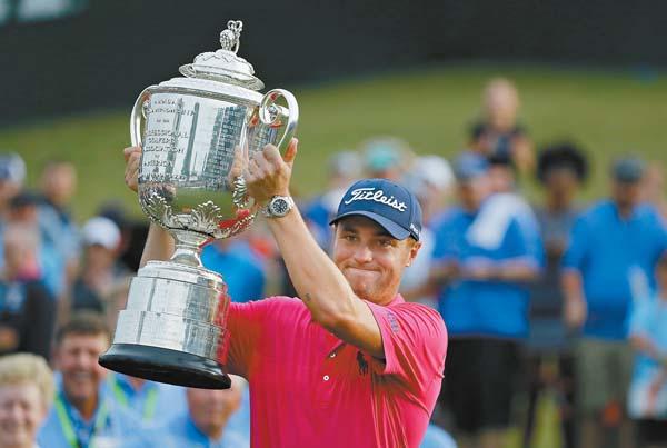 and the PGA Championship. The Maui News / MATTHEW THAYER photo (Kapalua); AP file photos