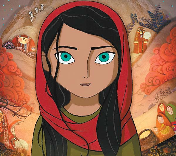 """This still frame is from producer Angelina Jolie's  animated feature film, """"The Breadwinner,"""" about female empowerment in pre-war Afghanistan. GKIDS photo"""