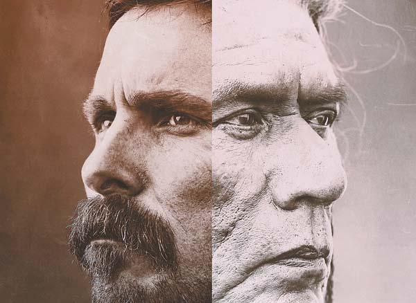 """""""Hostiles"""" stars Christian Bale (left) and Wes Studi. Photo courtesy Neon"""