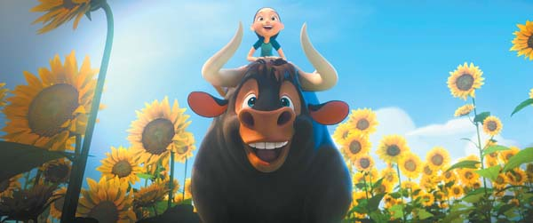 "John Cena and Kate McKinnon star in the fun animated film  ""Ferdinand,"" now playing at select Maui theaters. Twentieth Century Fox photo via AP"
