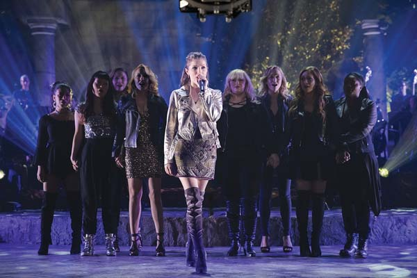"Anna Kendrick, center, in a scene from ""Pitch Perfect 3. Universal Pictures photo via AP"