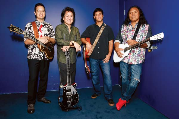 Henry Kapono (from right) will be playing with Blayne Asing, Johnny Valentine and Alx Kawakami on Feb. 24 in the Maui Arts & Cultural Center's Castle Theater. Photo courtesy of the Maui Arts & Cultural Center