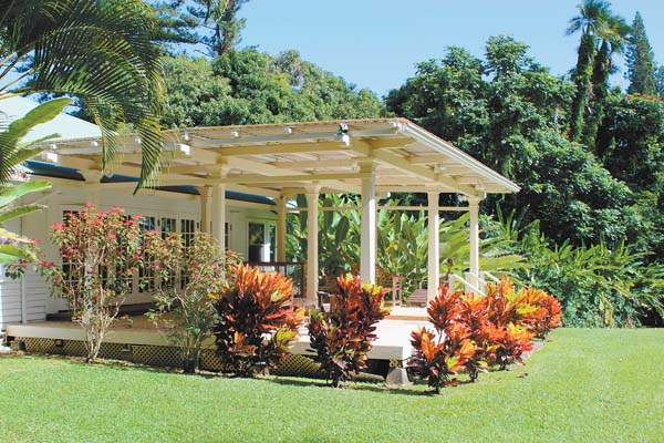 The historic Plantation Guest House is finishing a refresh to transform the space into an exclusive venue for group events, private gatherings, as well as an over-the-top residence for guests to reserve. -- The Maui News / CARLA TRACY photo