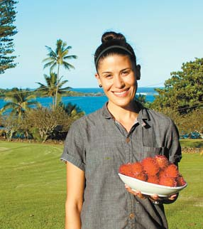 Travaasa Hana Executive Chef Bella Toland is making quite the impression with her new menu. Born in France and raised there, Los Angeles and the Philippines, she's got international experience. -- The Maui News / CARLA TRACY photo