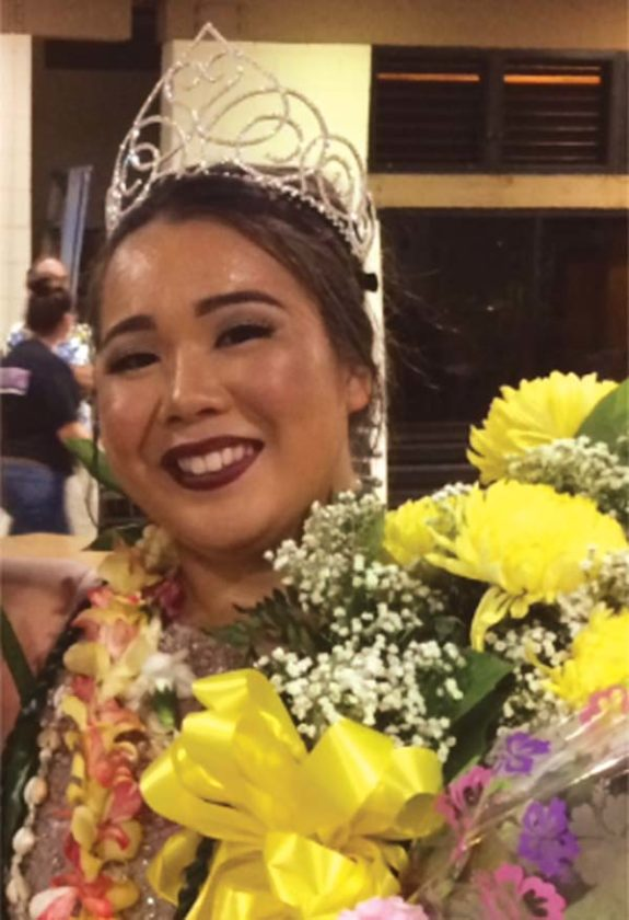 Paige Maki Nagahama was crowned the queen of the 65th Chrysanthemum Festival on Dec. 2 at the Velma McWayne Santos Community Center in Wailuku. -- Photo courtesy of Diep-Rapoza family