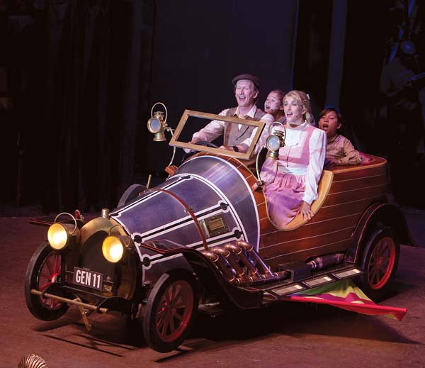 """Chitty Chitty Bang Bang"" on stage. Jack Grace photo"