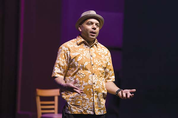 "Malcolm Grissom, Maui Fringe Festival's ""Best Performer,"" was one of the top 10 stage moments of 2017. Jack Grace photo"