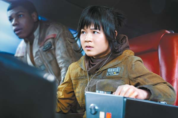 "Kelly Marie Tran as Rose in ""Star Wars: The Last Jedi."" Lucasfilm LTD via AP"