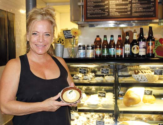 """""""I'm very proud of our Olowalu Lime Pie and the fact that it will be featured on television,"""" says Leoda's General Manager Rosie Robbins. -- The Maui News / CARLA TRACY photo"""