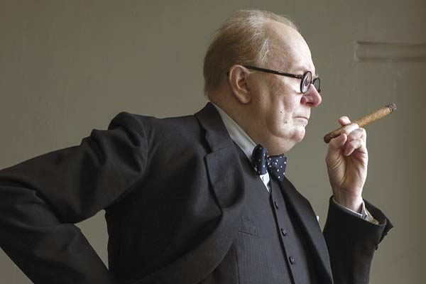 "Gary Oldman is Winston Churchill in ""Darkest Hour."" Focus Features via AP"