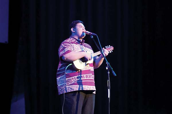 Listen to Kaulike Pescia from  5:30 to 7:30 p.m. Sunday at Seascape Maalaea. Maui Ocean Center photo