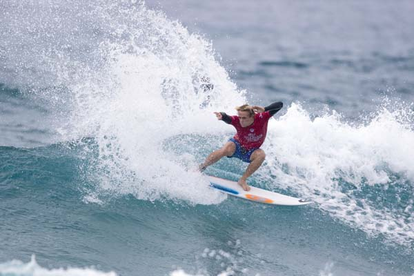 Cody Young of Maui competes during the first round of the Jeep World Junior Championship today in Kiama, Australia. Young won his heat with a score of 14.97 to advance through to the third round. World Surf League / Ethan Smith photos