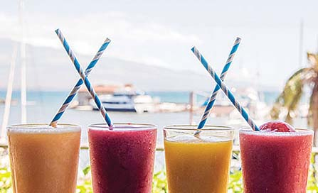 Drink up with biodegradable straws at Maui Ocean Center. -- Maui Ocean Center photo