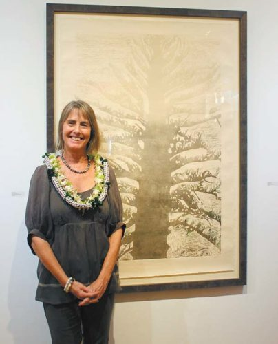 Artist Cherie Attix from last year's exhibition • Friday; photo courtesy Hui No'eau Visual Arts Center.