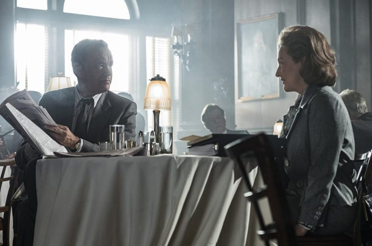 """The Post"" offers a dramatic true story and stars Tom Hanks (left) and Meryl Streep. • 20th Century Fox via AP"