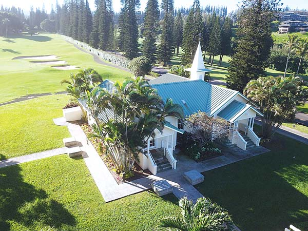 The Steeple House at Kapalua has opened as Maui's newest event venue. The historic structure is situated next to The Ritz-Carlton, Kapalua and can accommodate from 20 to 200 people indoors and 500 outside. STEEPLE HOUSE photo