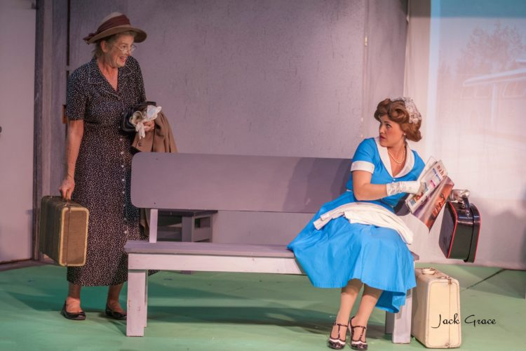 "Sharyn Stone (left) and Kathryn Holtkamp delight in ProArts Playhouse's ""The Trip to Bountiful."" Performances continue through Feb. 11. • JACK GRACE photo"