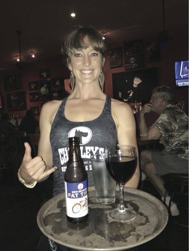 Charley's Restaurant & Saloon server Crystal Hendricks will be there on Super Bowl Sunday. • The Maui News / CARLA TRACY photo