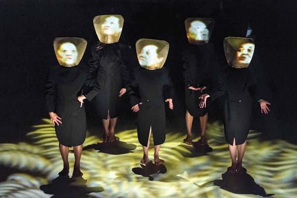 """Dance combines with visual graphics in """"Mana Wahine."""" Photo courtesy Okareka Dance Company"""