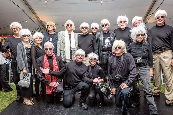 Attendees at last year's Warhol-inspired event. -- Photo courtesy Hui No'eau