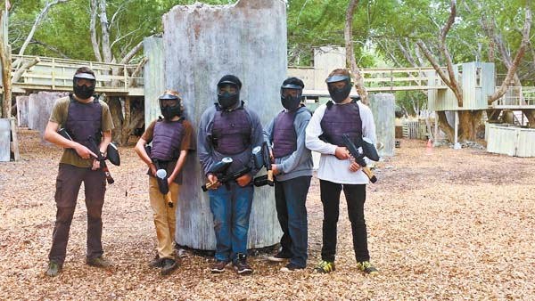 The teens in the CERT program learned how to administer first aid under fire during an active-shooter scenario at the paintball facility in Lahaina. Photo courtesy of Loren Lapow