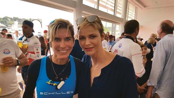 Kristie Stofler, pictured here with Princess Charlene, hopes to bring Olympic glory to the world's second-smallest country. Monaco has participated in the Olympic Games 29 times, and apart from a bronze medal for architecture in 1924 (a category no longer recognized by the International Olympic Committee), no athlete has ever brought home a medal.