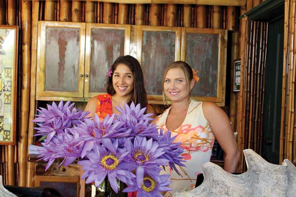 Mama's Fish House rose like cream to the top to be named a semifinalist in the uber-prestigious James Beard Awards this year. Hostess Kelsie Meza (left) is at the greeting stand with Floor Manager Noele McClure. The finalists will be announced on March 14. The Maui News / CARLA TRACY photo