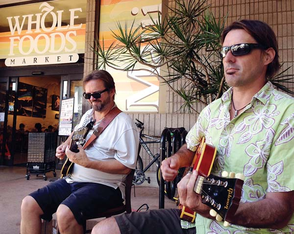 Catch Damon Parrillo (right) & Friends at Wholefoods Aloha Friday Music series from 11:30 a.m. to 1:30 p.m. in Kahului. Photo courtesy HawaiiONTV