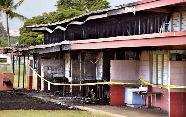 Kahului School Arson Investigation Closed News Sports