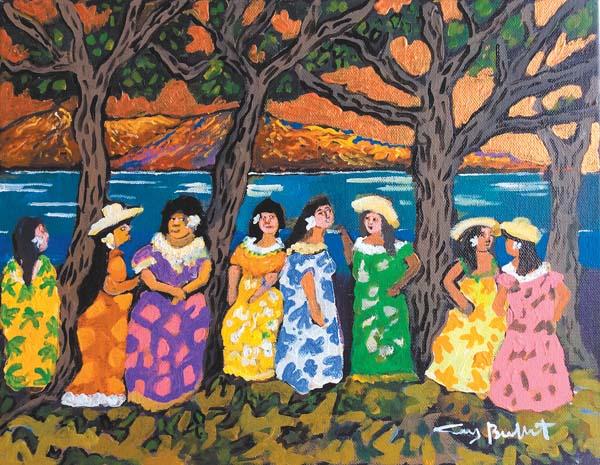 """Tutus of Waikiki"" by Guy Buffet -- Photo courtesy Lahaina Galleries"