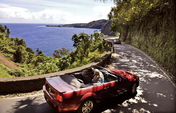 Cars cruise along the road to Hana. The Hana Highway Regulation, an initiative by a group of concerned East Maui residents, is trying to promote safety and raise awareness of hiking on private property. People venturing to remote, private and dangerous places have led to rescues and sometimes death. -- The Maui News / MATTHEW THAYER photo