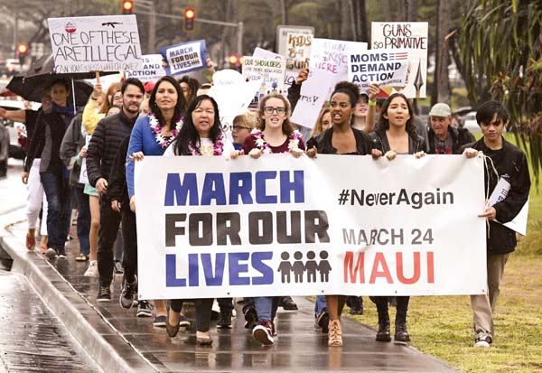 People March For Tougher Gun Laws