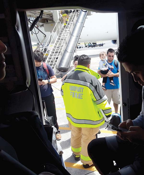 15 aboard Hawaii flight treated after pepper spray goes off