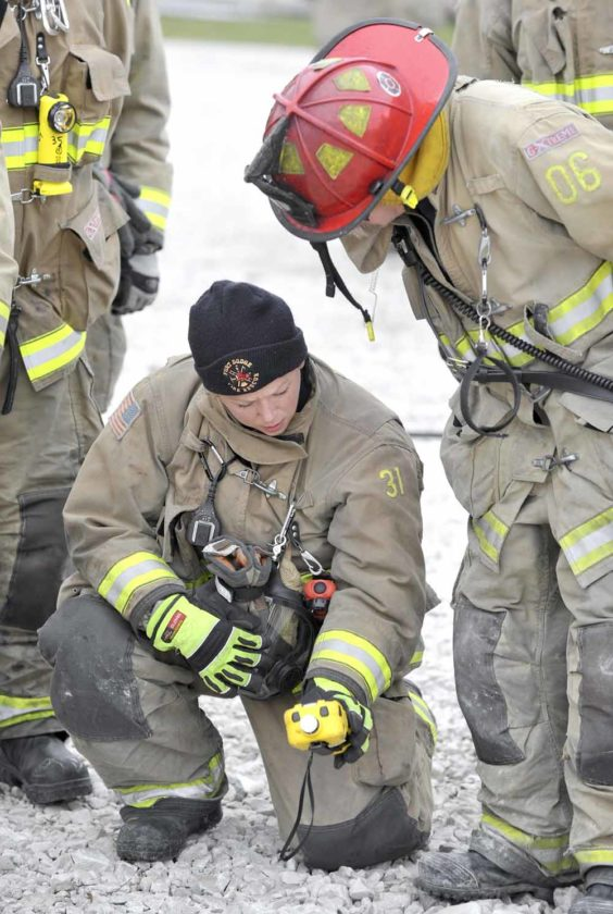 messenger photo by hans madsenfort dodge firefighter meghan spears. Cars Review. Best American Auto & Cars Review