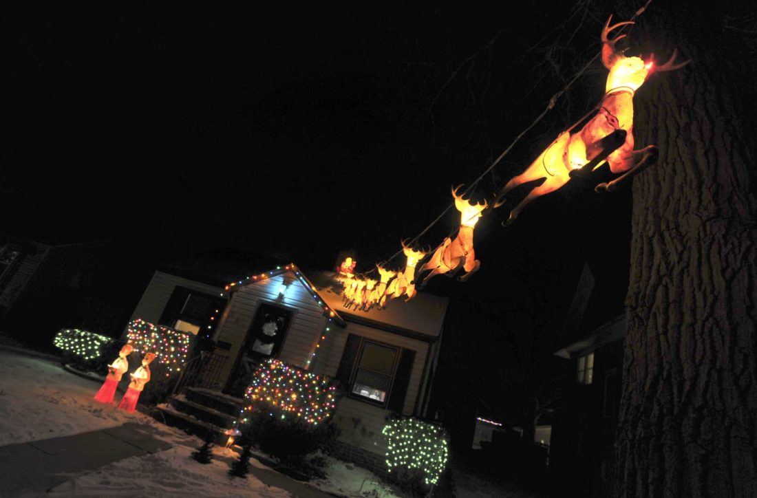 the messenger 12 days of christmas continues with this display at 607 11th ave n at the home of jessica and tyler moffitt that has an extensive family