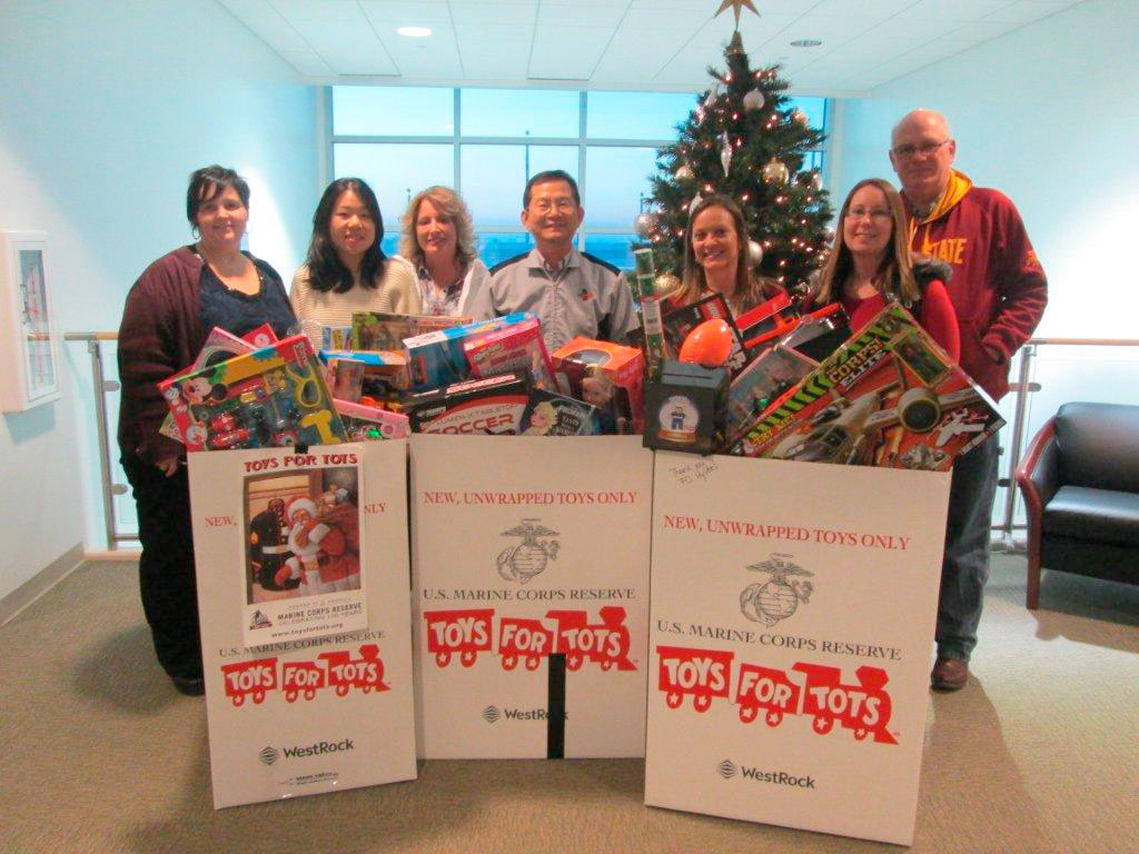Display Toys For Tots : Cj bio america supports toys for tots drive news sports