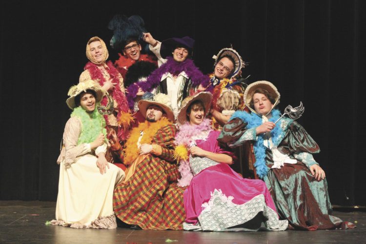 "Cast members are gearing up for the upcoming production of ""Scarlet Pimpernel."""