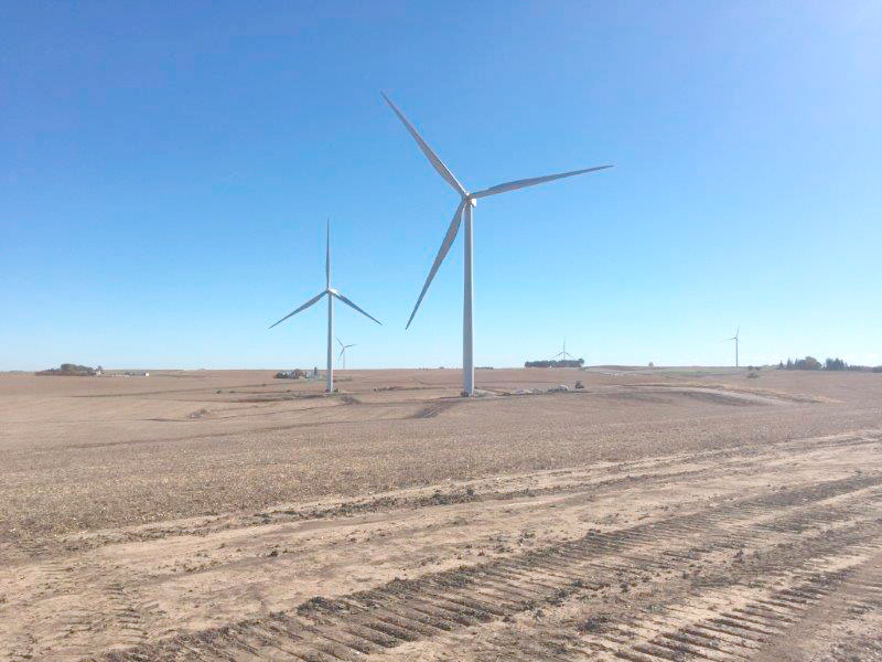 -Submitted photo  Work on the Wind X project began in spring 2016 and the new turbines were commissioned in December at MidAmerican Energy's Ida Grove wind project located near Ida Grove.