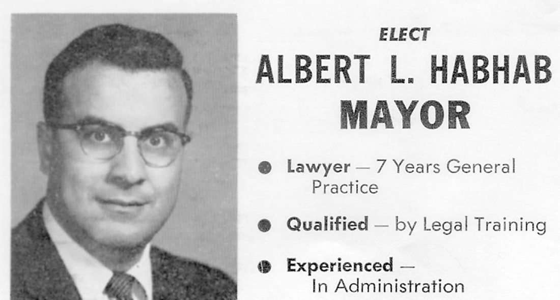 Retired judge Al Habhab served as a district court judge and was chief judge of the state appellate court. He's also a former Fort Dodge mayor. He distributed cards like this when he campaigned for mayor.