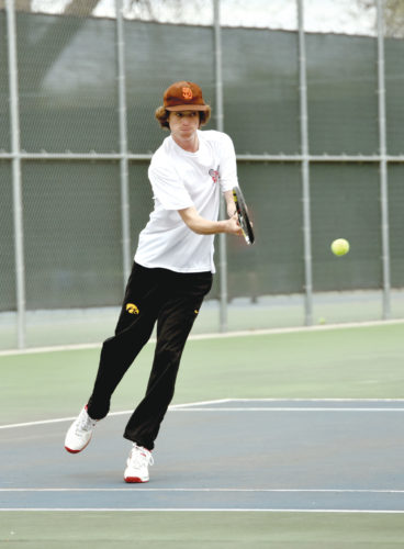 -Messenger photo by Britt Kudla Ryan Dolan of Fort Dodge compete against Urbandale on Thursday at Dodgers Courts
