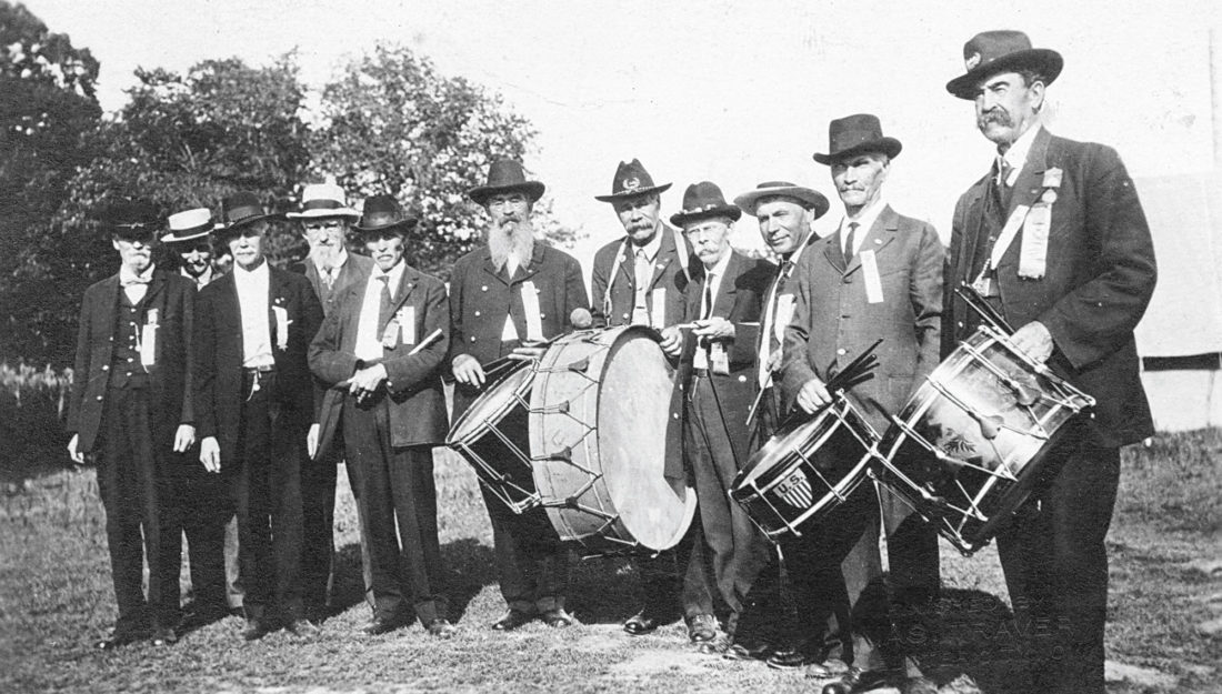 This photo is of members of the Grand Army of the Republic. It is probably taken in Webster City, but the men's names are unknown. They probably all belonged to the Winfield Scott Chapter of the Grand Army of the Republic, which was the Webster City chapter. It was a group that included Aquilla France until his death.